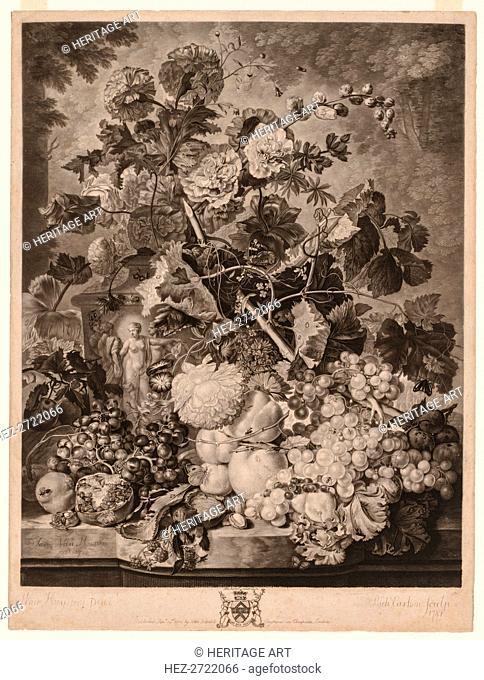 A Fruit Piece, 1781. Creator: Richard Earlom (British, 1743-1822)