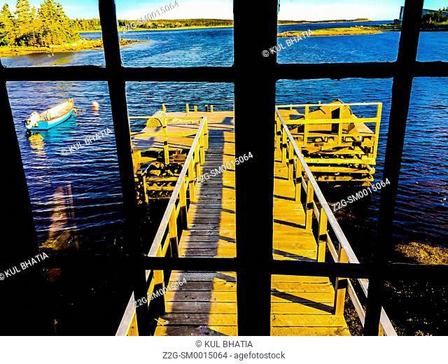 Maritime scenery through a picture window, Halifax, Nova Scotia