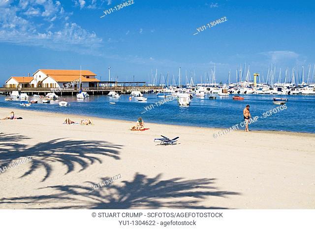 Club Nautico Marina and Beach at Los Alcazares, Murcia, Costa Calida, South East Spain