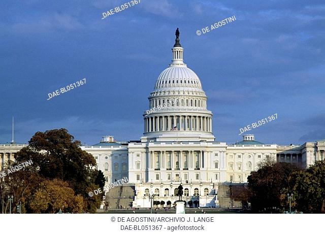 The Capitol, seat of the United States Congress, Washington DC, District of Columbia. United States of America, 18th-19th century