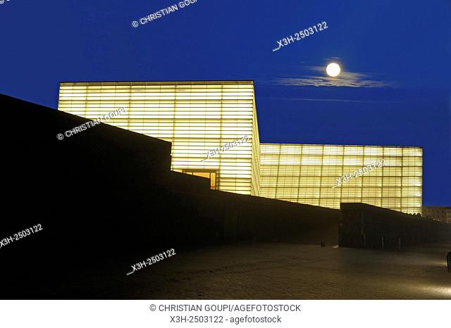 Kursaal Congress Centre and Auditorium by Spanish architect Rafael Moneo, San Sebastian, Bay of Biscay, province of Gipuzkoa, Basque Country, Spain, Europe