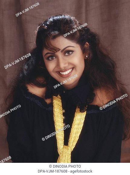 1994, Portrait of Indian film actress Shilpa Shetty