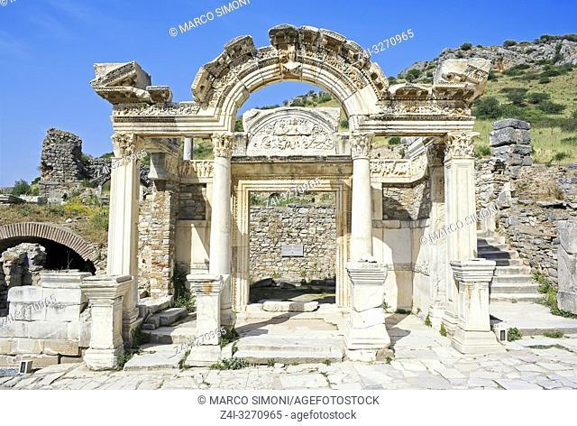 Temple of Hadrian, Ephesus, Turkey, Asia Minor, Asia