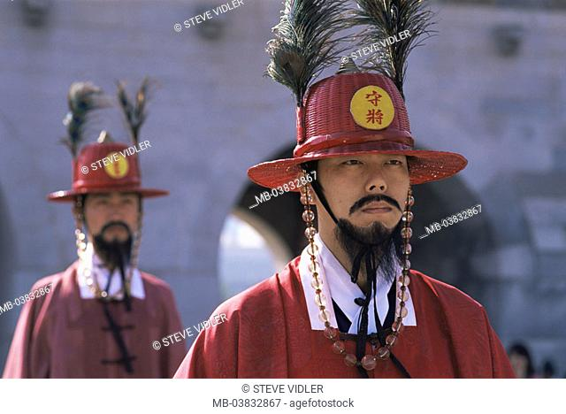 Korea, Seoul, Gyeongbokgung Palace, Entrance 'Heungnyemun', Watches, portrait, , Series, Asia, Eastern Asia, South Korea, capital, Kyongbokkung Palace, palace