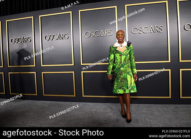 Oscar® nominee Cynthia Erivo arrives at the Oscar Nominee Luncheon held at the Ray Dolby Ballroom, Monday, January 27, 2020