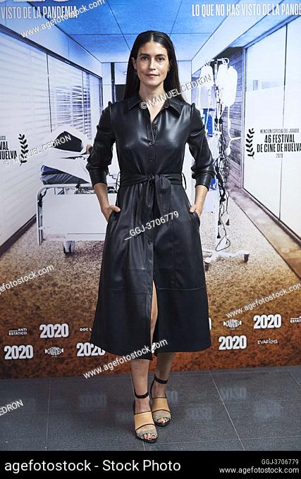 Nerea Barros attends '2020' Documental Movie Exclusive Premiere at Wizink Center on November 26, 2020 in Madrid, Spain