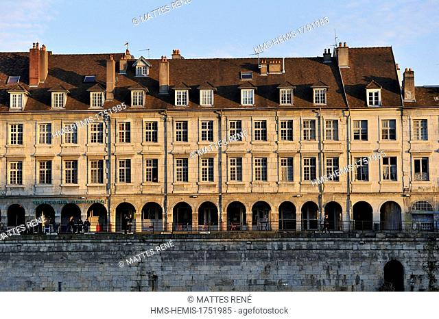 France, Doubs, Besancon, the historic center, Quai Vauban