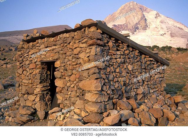 Mt Hood & Cooper Spur shelter, Mt Hood Wilderness, Mt Hood National Forest, Oregon