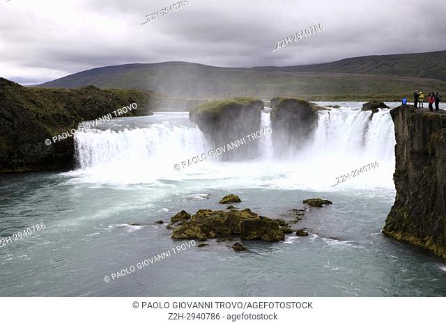 Godafoss waterfall, Iceland, Europe
