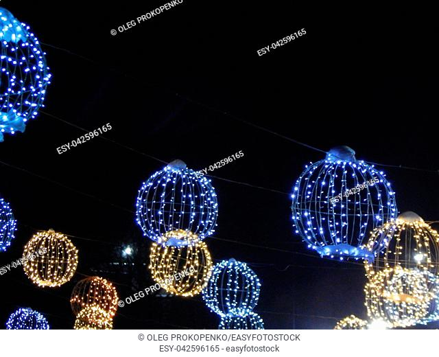 Garlands and decorations for the holiday Christmas and New Year