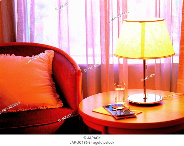 Chair and lamp