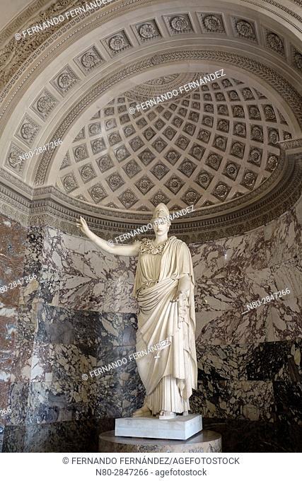 La Pallas De Velletri. Athena. Louvre Museum. Paris. France. Europe