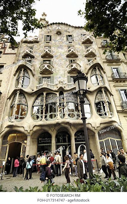 building, baroque, combines, gaudi, house