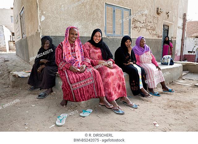 Women of Nubian Village on Elephantine Island, Egypt, Assuan