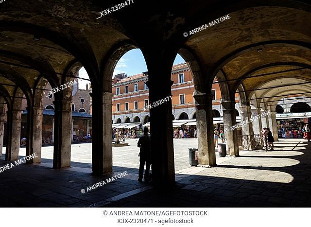 Portico. Campo San Giacomo in Rialto. Venice, Italy
