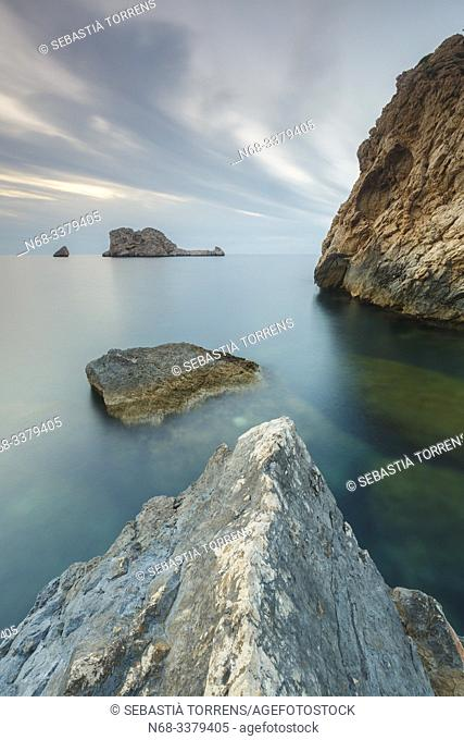 Ibiza and Ses margalides islands, Spain