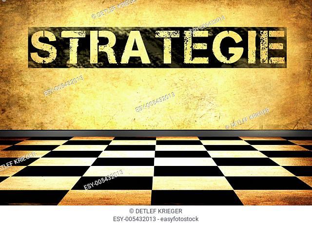 Strategie - Schachmuster 3D