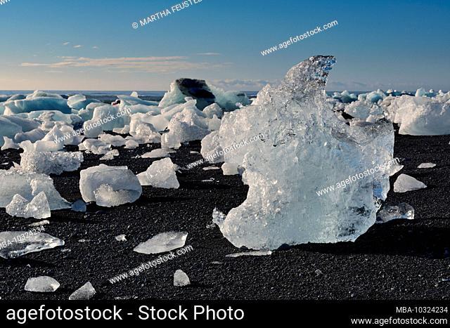 Iceland, Jökulsárlón, glacial lake, Skaftafell National Park, Höfn, southeast Iceland, glacier lagoon