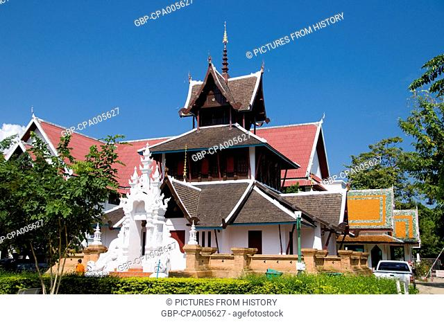 Thailand: Lanna-style ubosot within the Wat Chedi Luang complex, Wat Chedi Luang, Chiang Mai