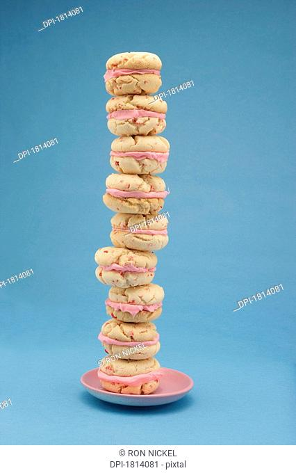 Cookies stacked on a plate