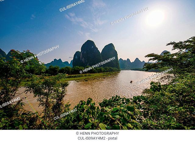 Iconic Li Jiang river, Guangxi, China
