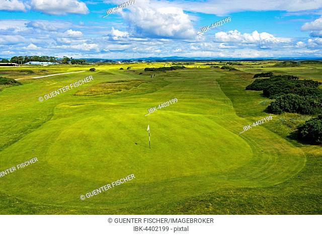 Greens of St Andrews Links Golf Course, St Andrews, Fife, Scotland, United Kingdom