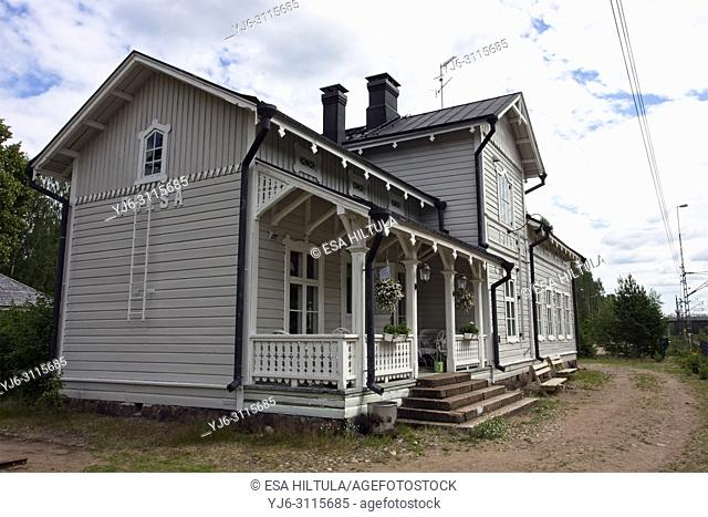old railway station at Pulsa, Lappeenranta Finland
