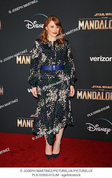 "Bryce Dallas Howard at """"The Mandalorian"""" Premiere held at El Capitan Theatre in Hollywood, CA, November 13, 2019. Photo Credit: Joseph Martinez / PictureLux"