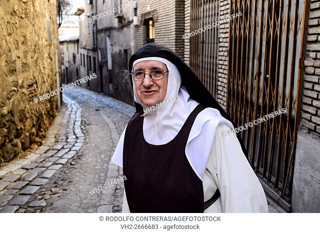 Nun in the old quarter, Toledo
