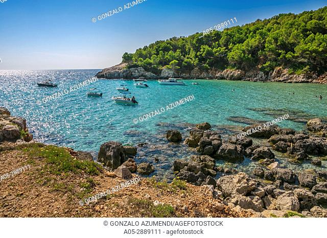 Cala Escorxada Beach. Minorca. Balearic Islands. Spain