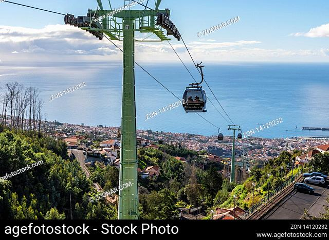 cable car station, Monte, Funchal, Madeira, Portugal, Europe, Seilbahnstation, Monte, Funchal, Madeira, Portugal, Europa