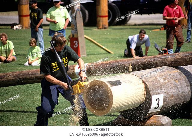 There are annual competitions in Canadian towns such as Squamish,where loggers and forestry workers demonstrate their chain saw skills and compete against each...