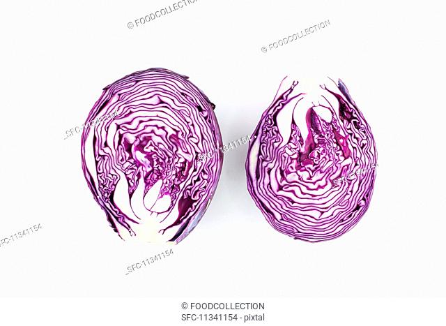 Sliced red cabbage