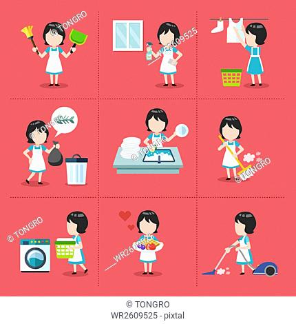 House chore icons