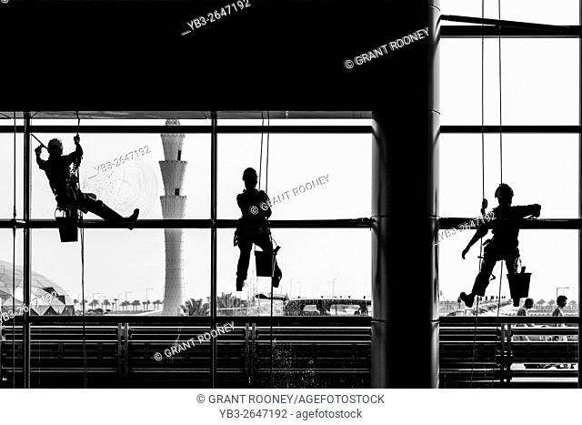 Window Cleaners, Hamad International Airport, Doha, Qatar