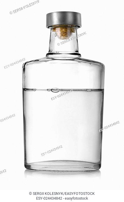 Bottle of vodka isolated on a white background. Clipping Path