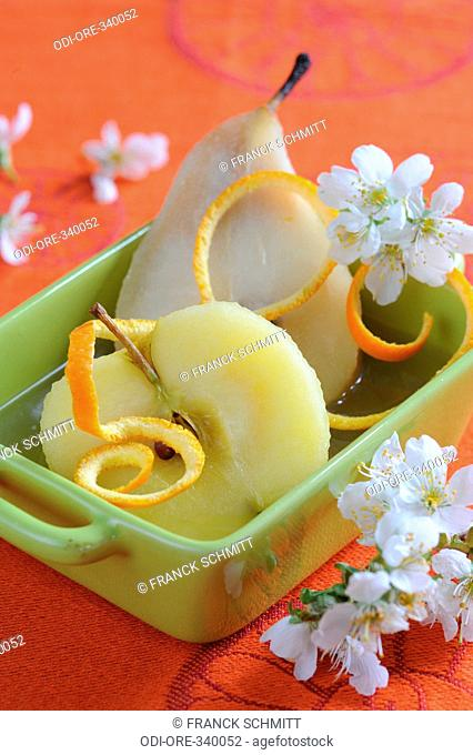 Poached fruits orange blossom