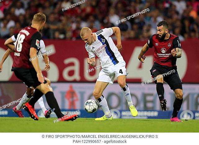 firo: 05.08.2019, Fuvuball, 2.Bundesliga, season 2019/20, 1.FC Nvºrnberg - HSV Hamburg Hamburg Hamburg, Rick van Drongelen, HSV Hamburg Hamburg Hamburg, Hamburg