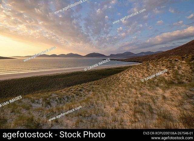 Grassy sand dunes above Luskentyre beach, Isle of Harris, Outer Hebrides, Scotland