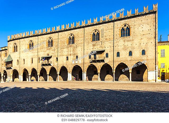 Old square in Mantova, Italy