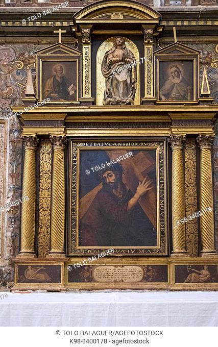 Señor con la Cruz a cuestas, escuela italiana, siglo XVI, colegiata de Santa María del Mercado, Gótico-renacentista, construída entre 1526-1530