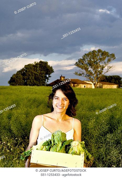 vegetable box girl