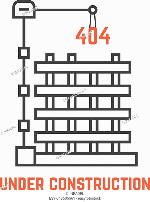 under construction like server error. concept of page not found info, cityscape, machine, apartment, engineer, growth build