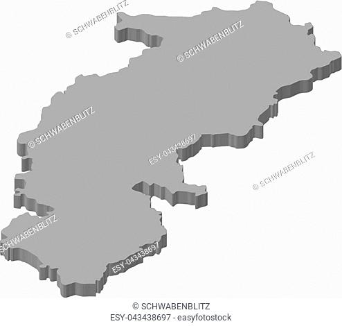 Map of Chhattisgarh, a province of India