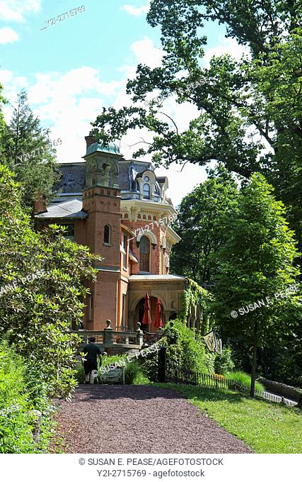 Harry Packer Mansion, now a bed and breakfast, Jim Thorpe, Pennsylvania, United States, North America