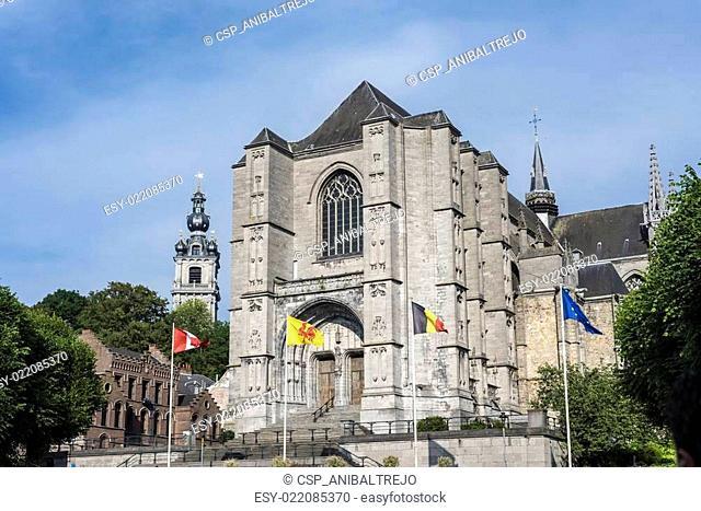 Sainte-Waudru Collegiate Church in Mons, Belgium