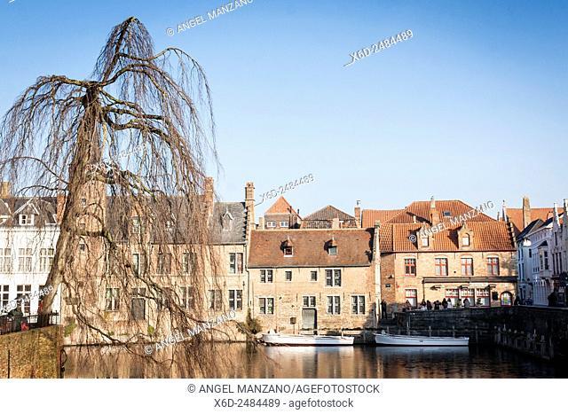 Water canal, Bruges, Belgium