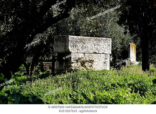 Archaeological Site of Kerameikos in Athens Greece. Kerameikos is one of the most important but least visited archaeological sights in Athens