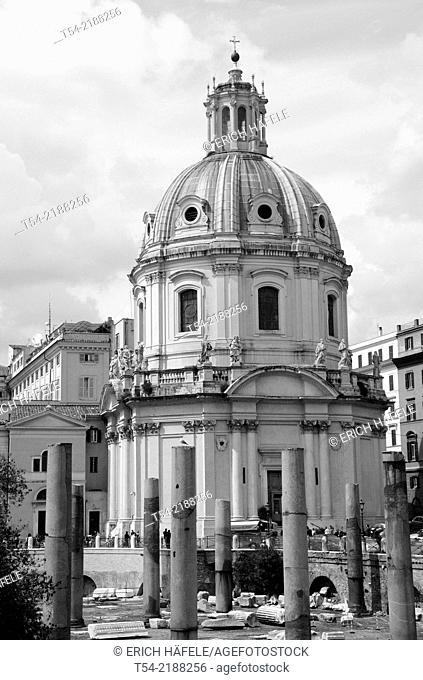 Santissimo Nome di Maria Church at the Roman Forum in Rome