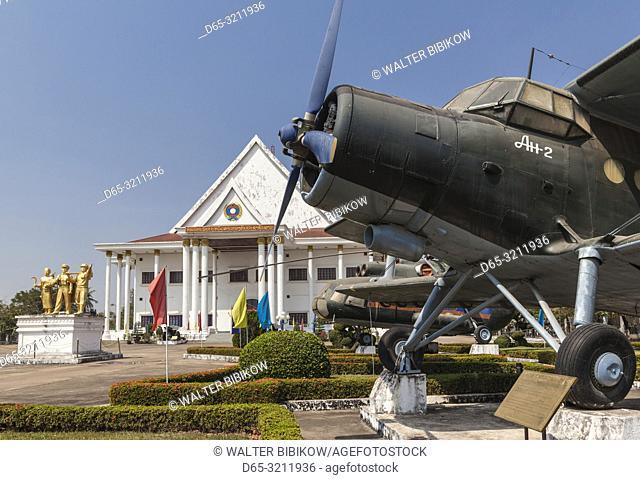 Laos, Vientiane, Laotian Army Museum, Soviet AN-2 aircraft